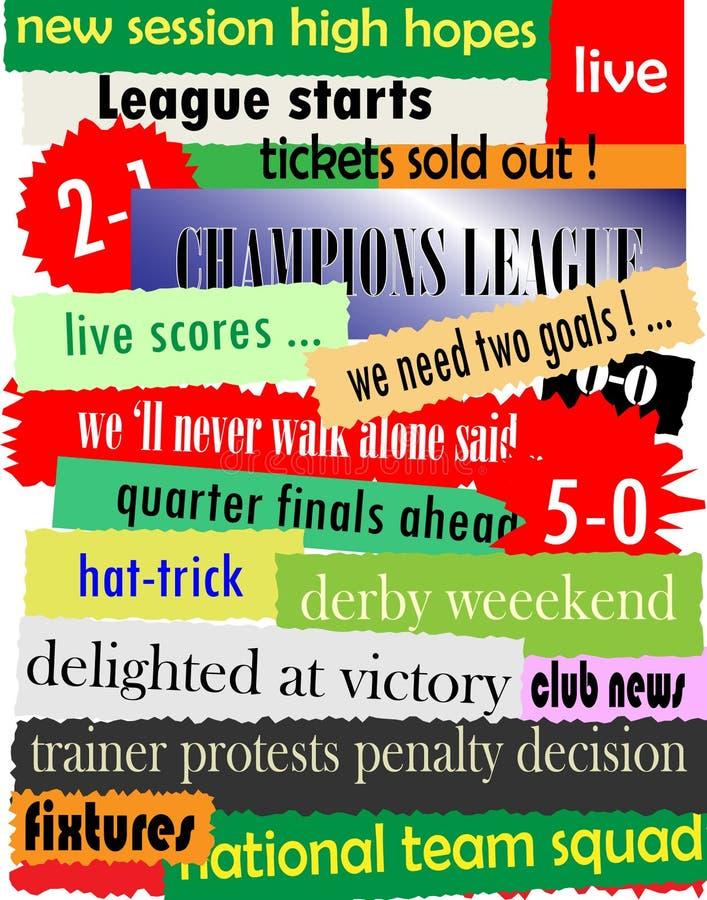 列为头条新闻足球 库存例证