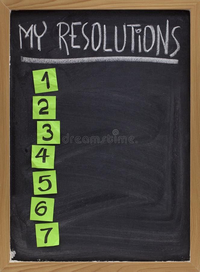 列出我的解决方法 免版税图库摄影