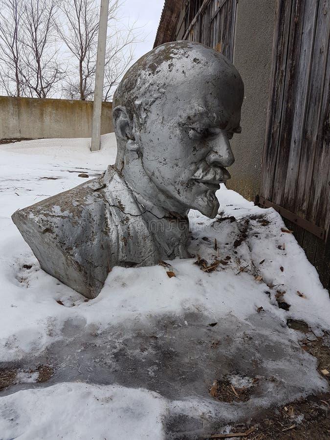列宁雕象vladimir 库存照片