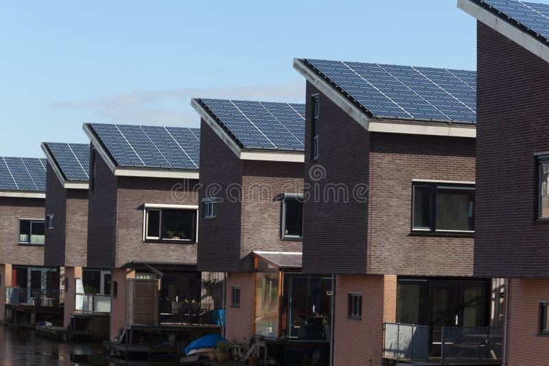 系列房子镶板太阳 免版税库存图片