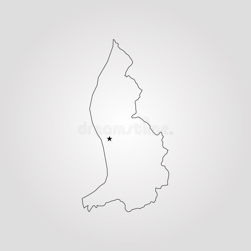 列支敦士登的地图 皇族释放例证