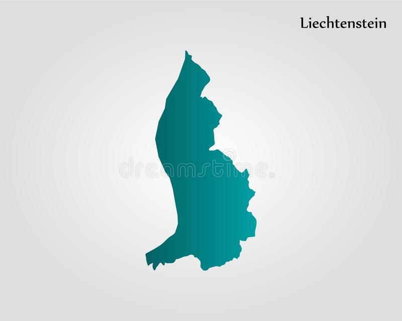 列支敦士登的地图 库存例证