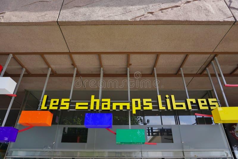 列斯在雷恩,法国焦急Libres图书馆和博物馆 免版税库存图片