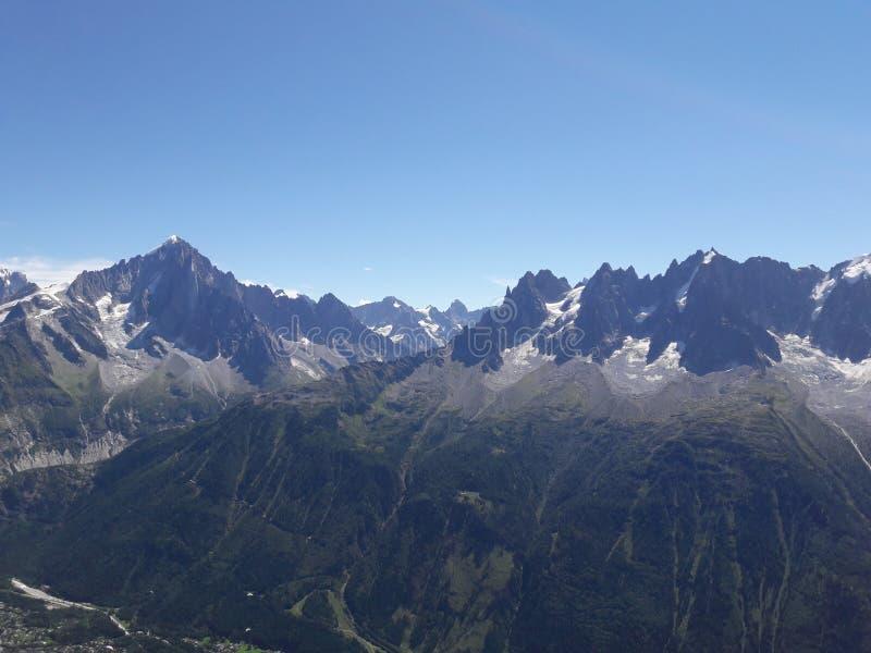 列斯Alpes 库存照片