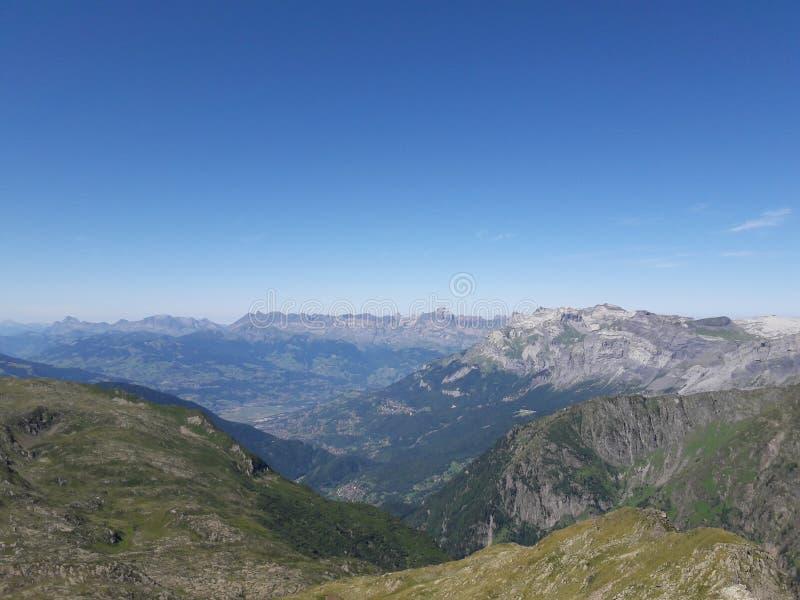 列斯Alpes 免版税库存图片