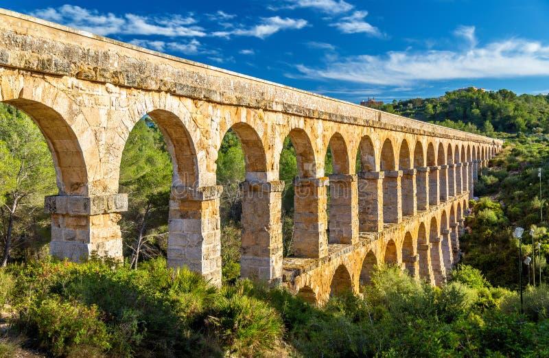 列斯Ferreres渡槽、亦称Pont del Diable -塔拉贡纳,西班牙 免版税库存照片