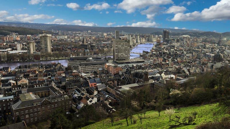列日在从montagne de的比利时bueren 库存图片