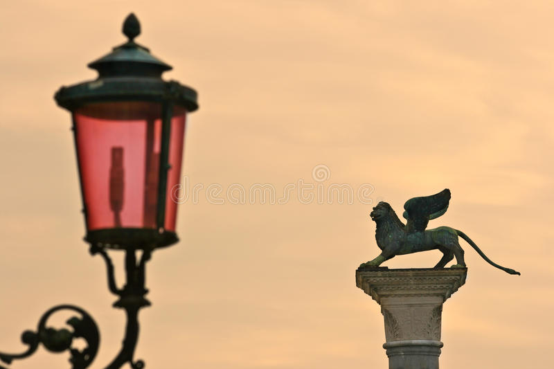 列标记圣徒威尼斯 免版税库存照片