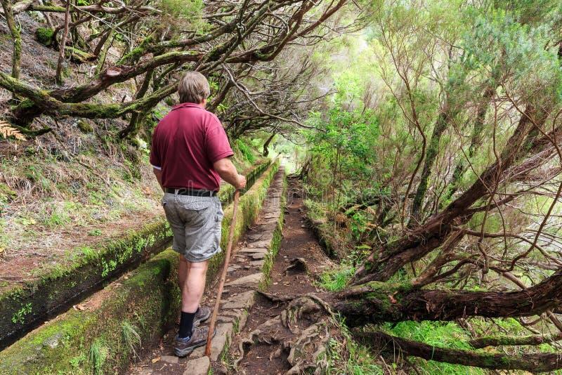 列瓦达步行旅游业 免版税库存图片