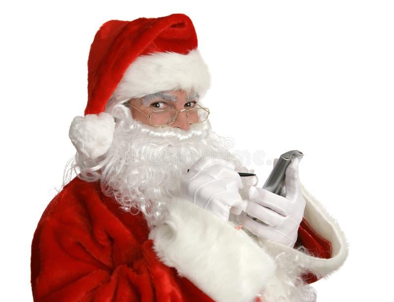 列表好的pda s圣诞老人 免版税库存照片