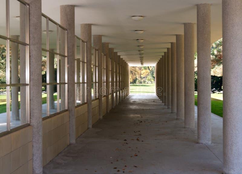 列走廊 免版税库存图片