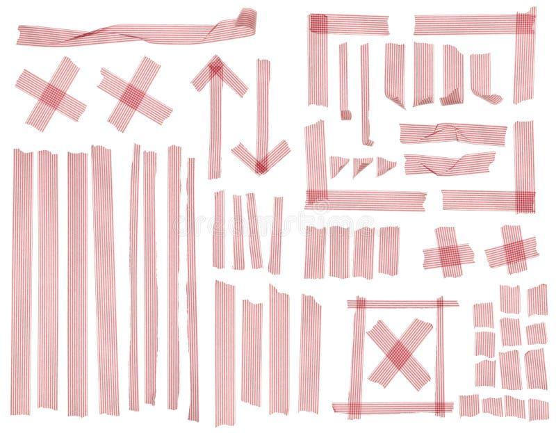 列阵镶边的磁带 库存图片