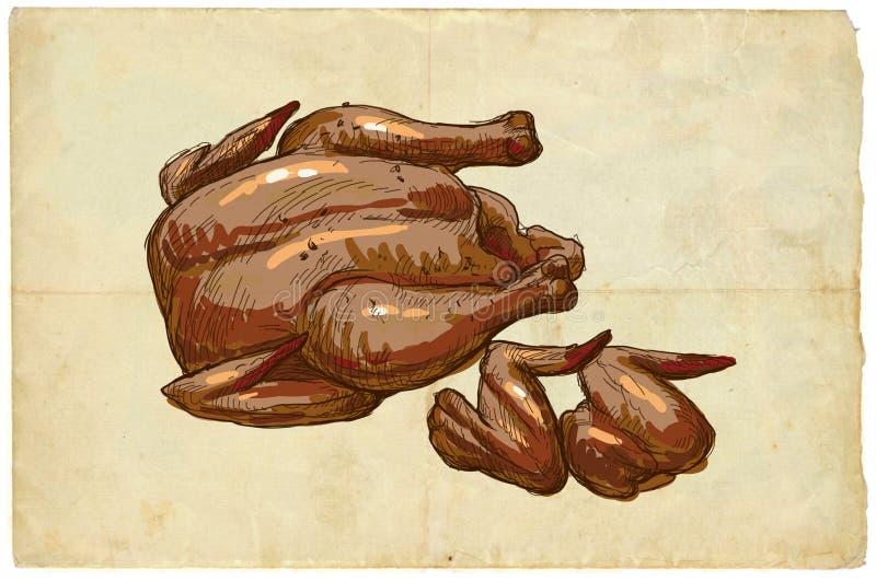 从系列食物:鸡 库存例证