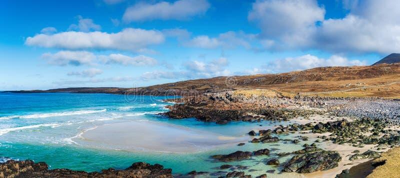 刘易斯岛Mealista美丽的海岸线和海滩 图库摄影