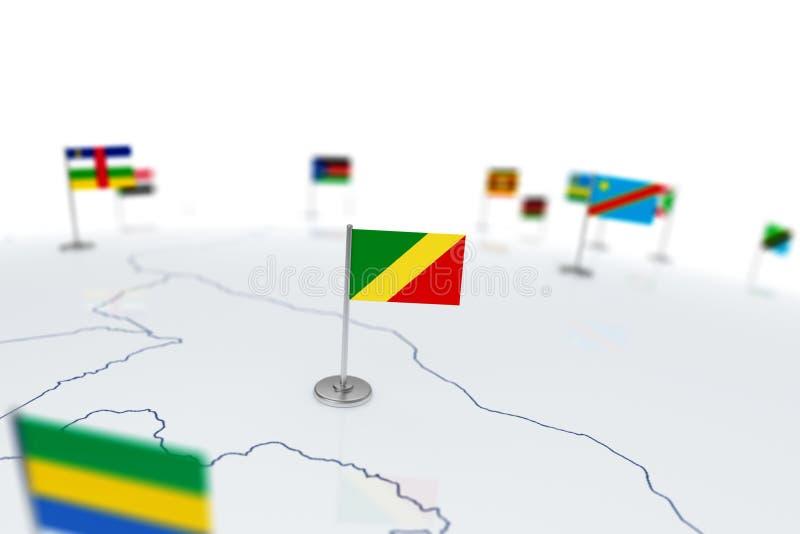 刚果标志共和国 库存例证