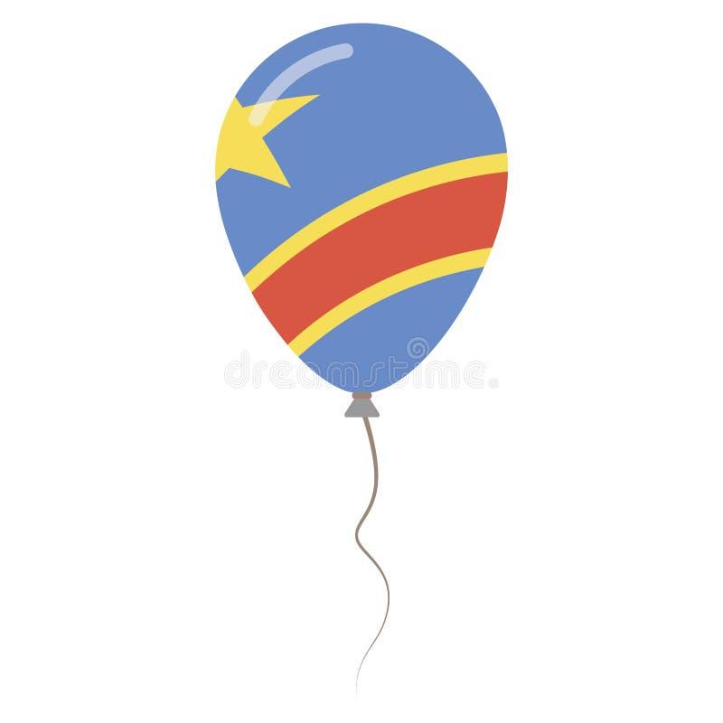 刚果民主共和国国民颜色 皇族释放例证