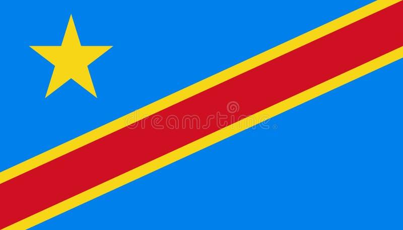 刚果民主共和国在平的样式的旗子象 r r 皇族释放例证