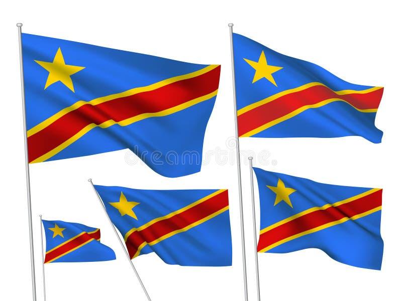 刚果民主共和国的传染媒介旗子 皇族释放例证