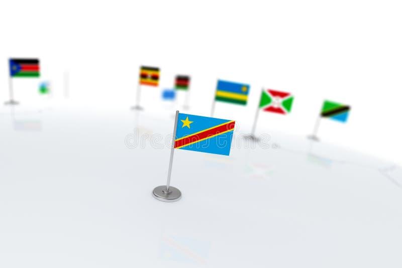 刚果民主标志共和国 向量例证