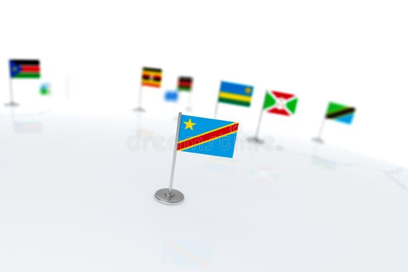刚果民主标志共和国 皇族释放例证