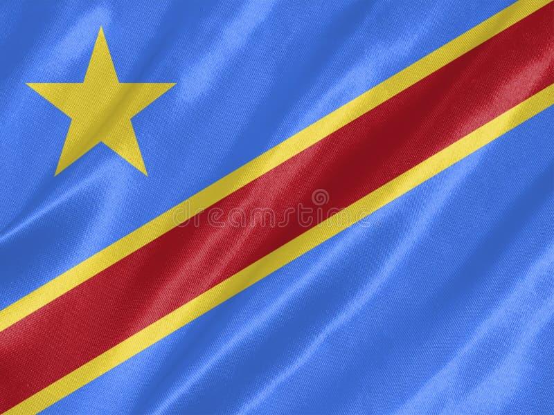 刚果民主标志共和国 免版税库存照片
