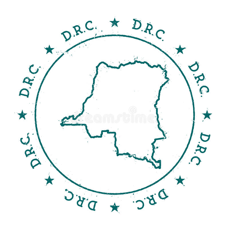 刚果,传染媒介地图民主共和国 库存例证