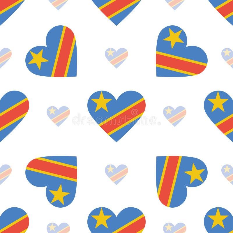 刚果,旗子民主共和国 向量例证