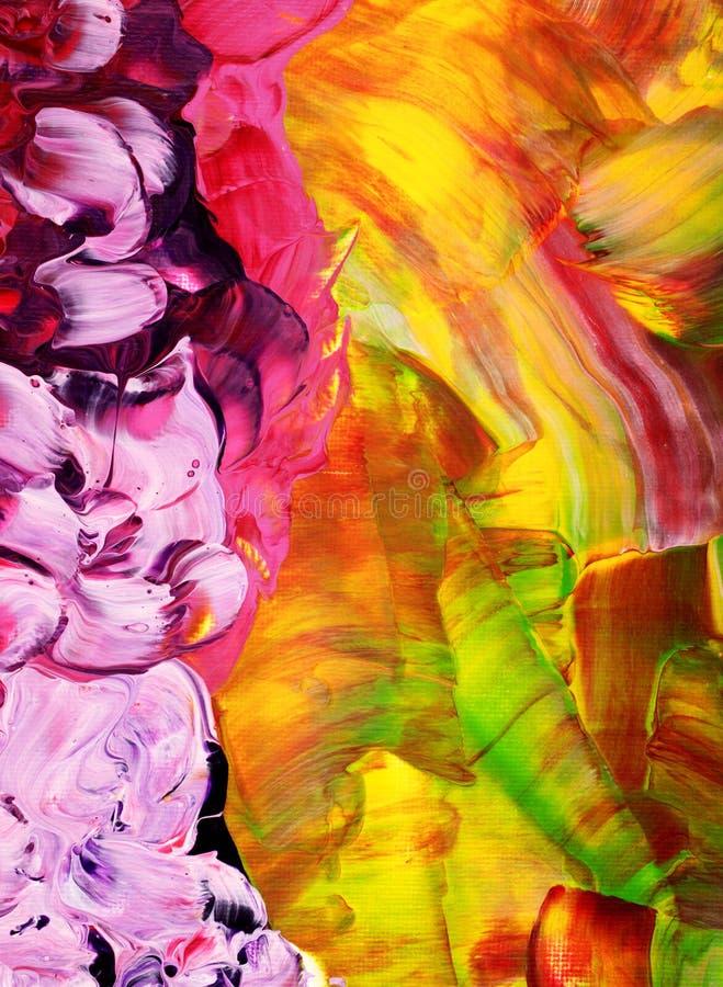 刚毅强有力的五颜六色的绘画 向量例证