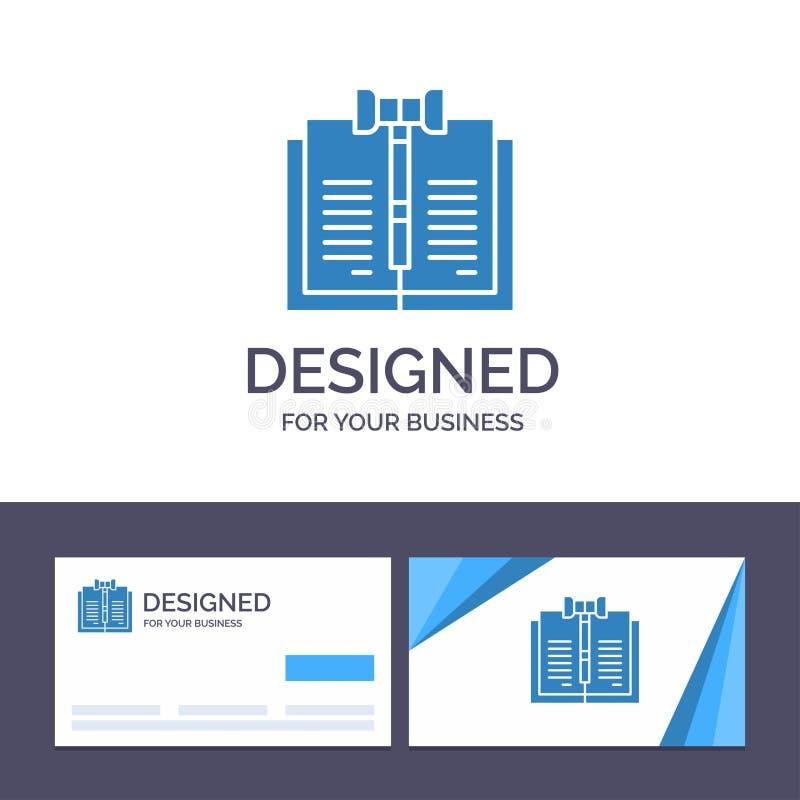 创意名片和徽标模板业务、版权、数字、法律、记录矢量图 库存例证