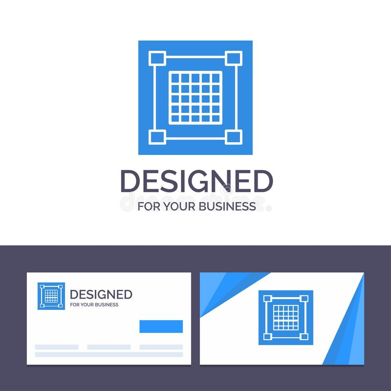 创意名片和徽标模板创意、设计、设计、图形、网格矢量图 库存例证