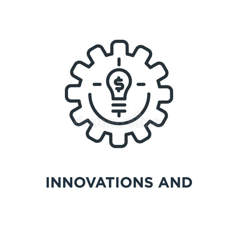 创新和fintech线性象 创新和fintech林 向量例证