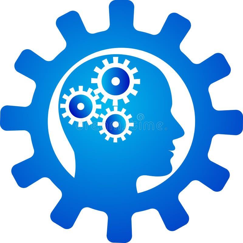 创新头脑齿轮 皇族释放例证