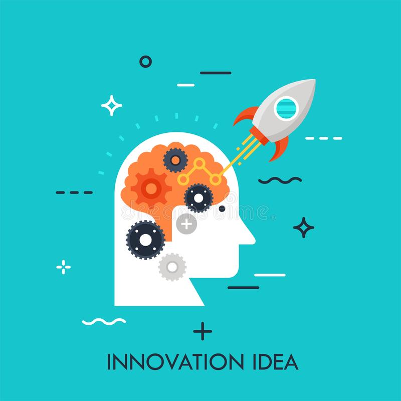 创新想法平的传染媒介概念 皇族释放例证