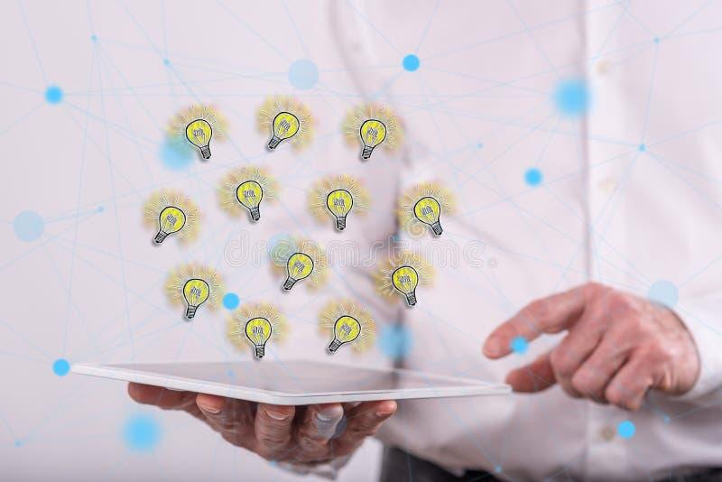 创新想法的概念 图库摄影