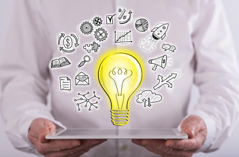 创新想法的概念 免版税图库摄影