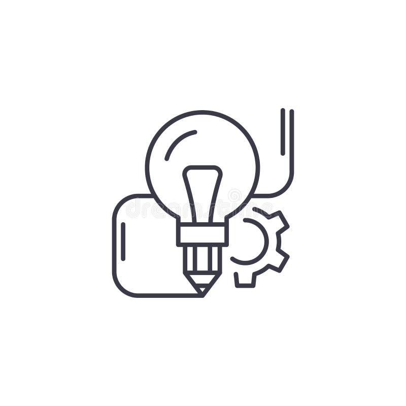 创新想法线性象概念 创新想法线传染媒介标志,标志,例证 皇族释放例证