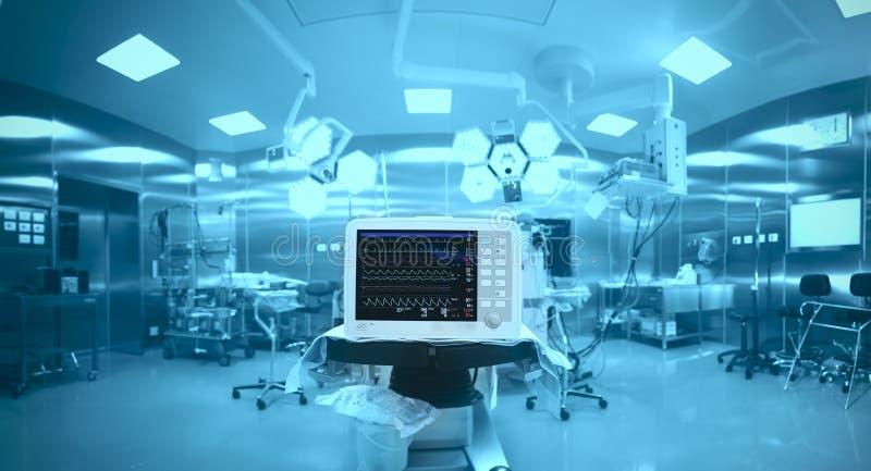 创新技术在一个现代手术室 免版税库存照片