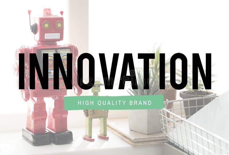 创新技术是创造性的未来派概念 免版税库存照片