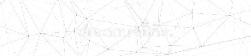 创新数字通信、数字变革向量图形小点和线连接横幅背景 库存例证
