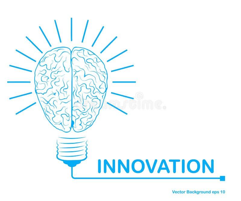 创新背景,创造性的想法概念,创造性的脑子概念 也corel凹道例证向量 库存例证