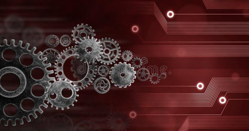 创新计算机数据嵌齿轮技术,训练,企业概念ideea背景conection 库存例证