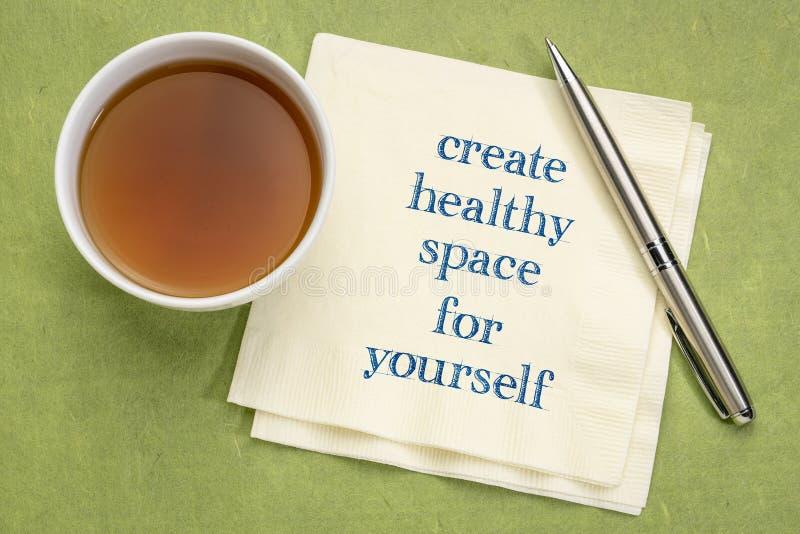 创造你自己的健康空间 免版税库存图片