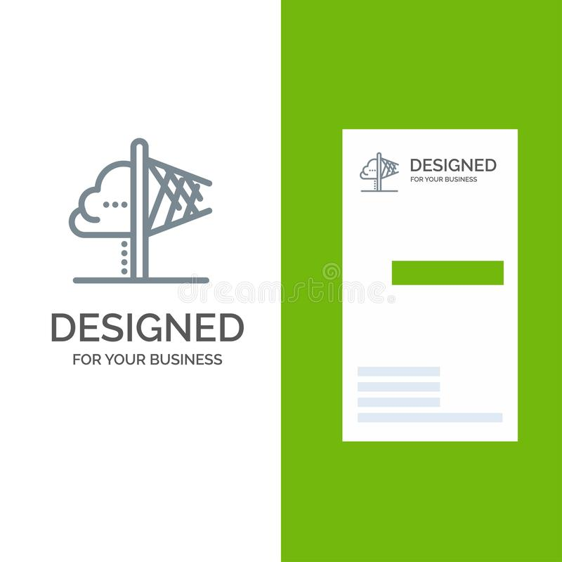 创造性、想法、想象力、洞察、启发灰色商标设计和名片模板 库存例证
