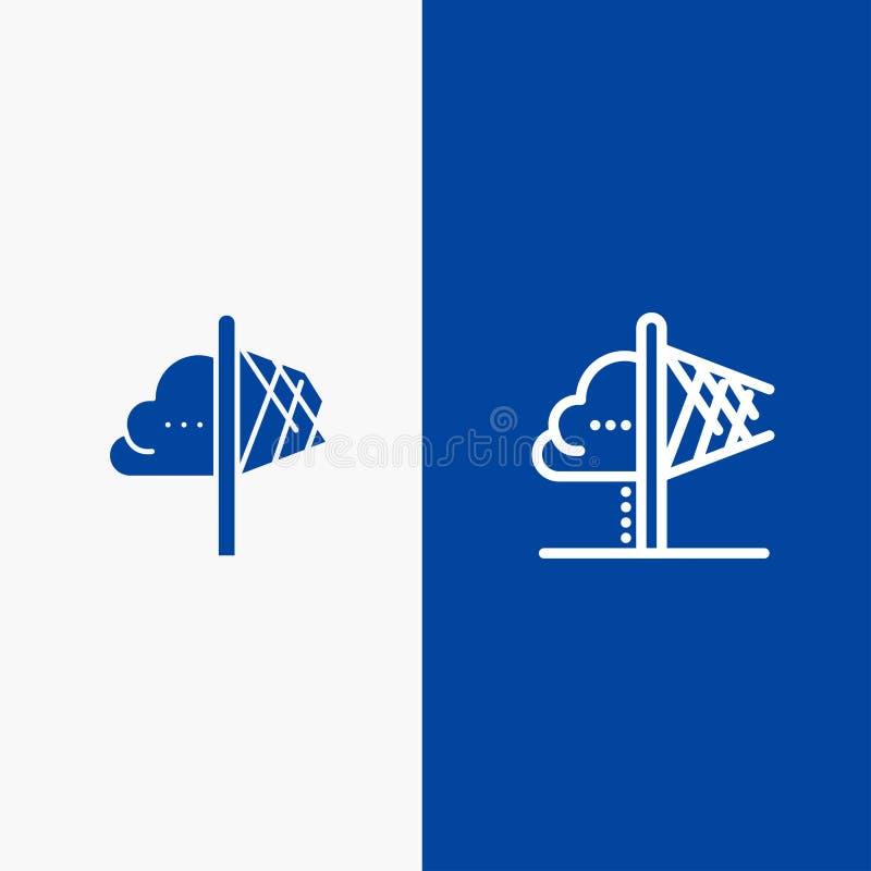 创造性、想法、想象力、洞察、启发线和纵的沟纹坚实象蓝色旗和纵的沟纹坚实象蓝色横幅 库存例证