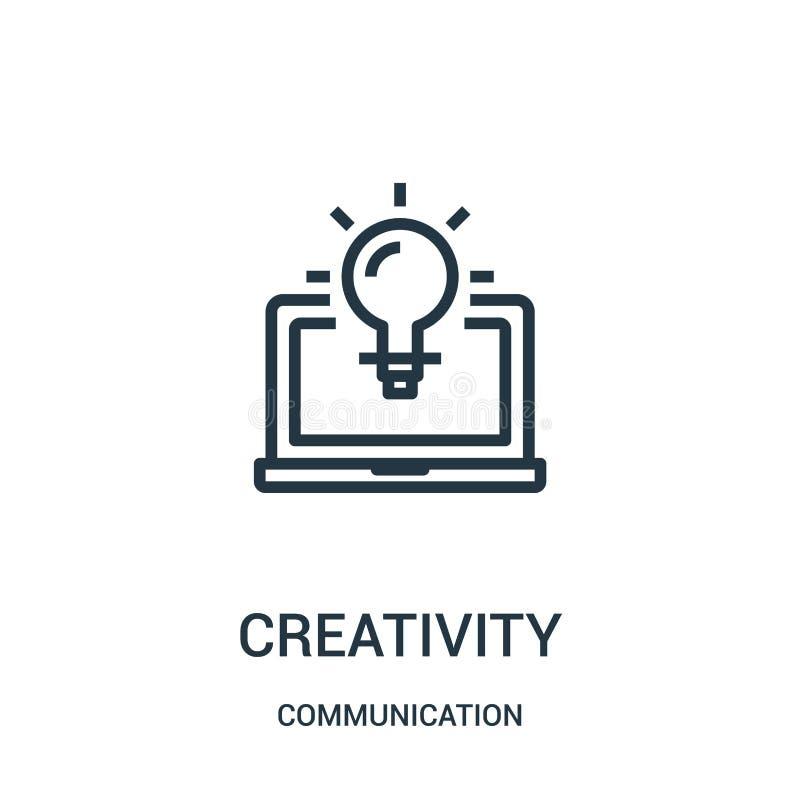 创造性从通信汇集的象传染媒介 稀薄的线创造性概述象传染媒介例证 线性标志为使用 向量例证