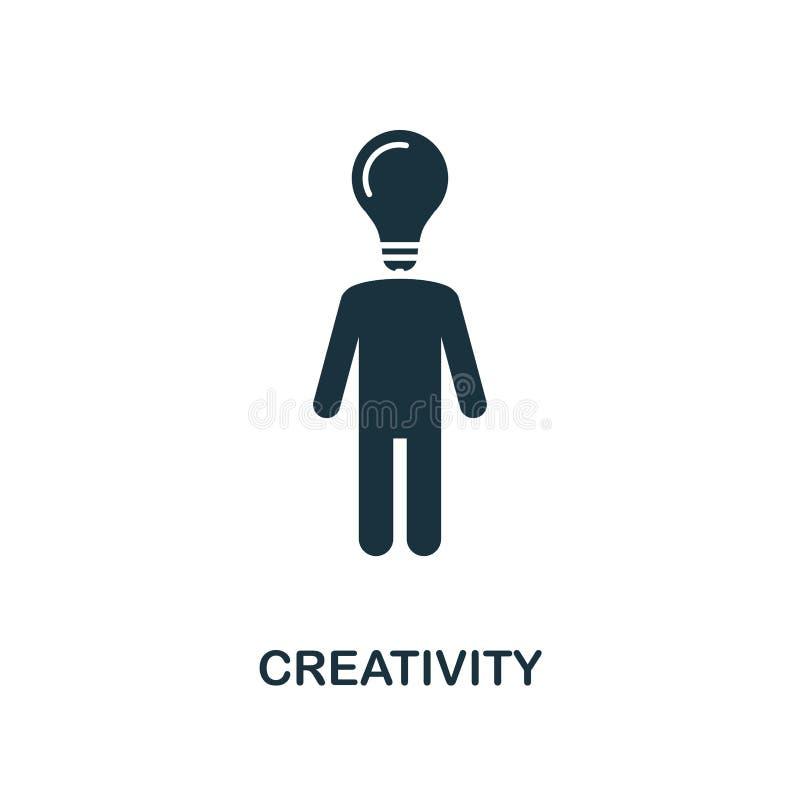 创造性创造性的象 简单的元素例证 创造性概念从软的技能收藏的标志设计 为w完善 向量例证