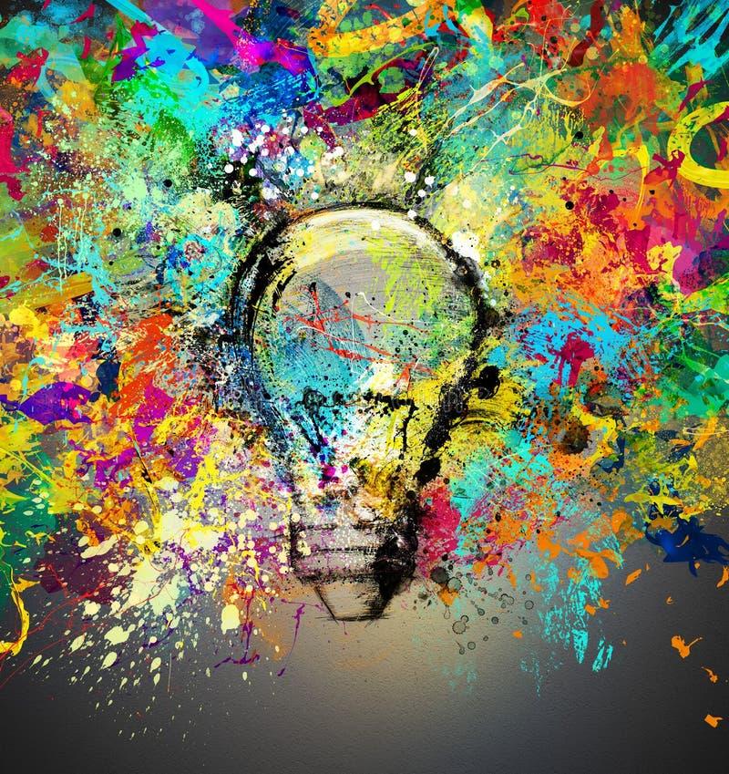 创造性和五颜六色的想法 库存例证
