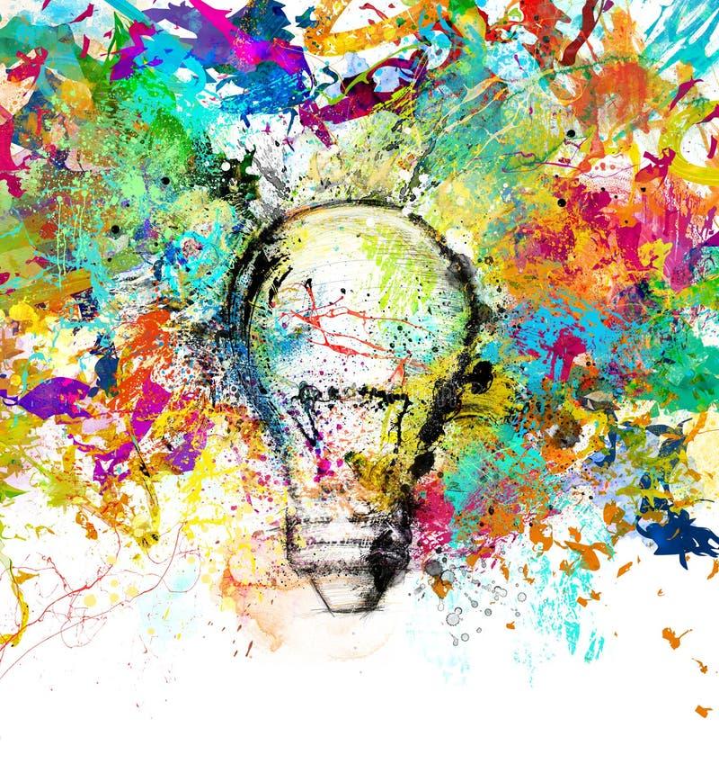 创造性和五颜六色的想法 皇族释放例证
