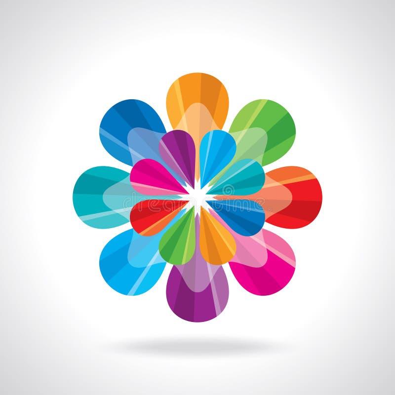创造性和五颜六色的抽象设计传染媒介 向量例证