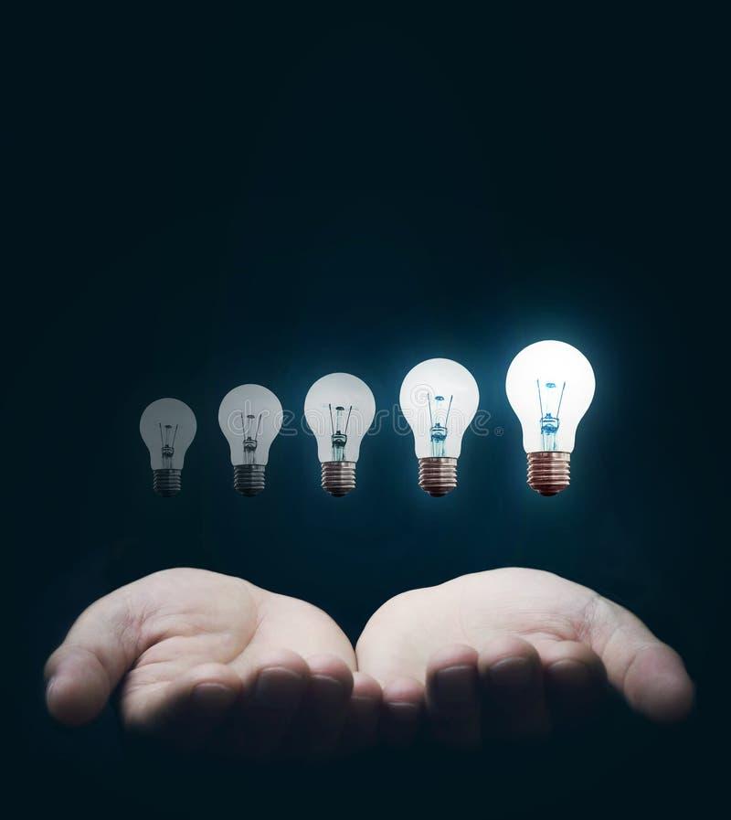 创造性和大想法的力量 免版税库存照片